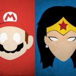 Afiches minimalistas de personajes del comic, cine y video juegos