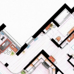 Mira los planos de las casas o departamentos de tus series favoritas