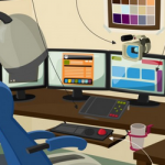 El escritorio ideal de un diseñador