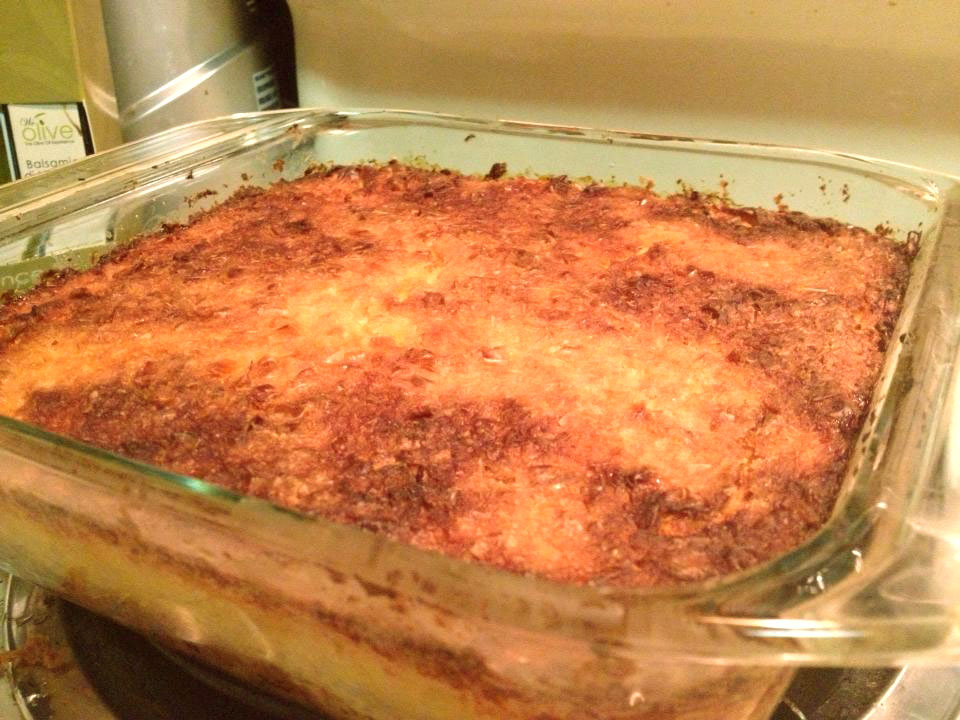 Pastel de Choclo Vegetariano salido del Horno