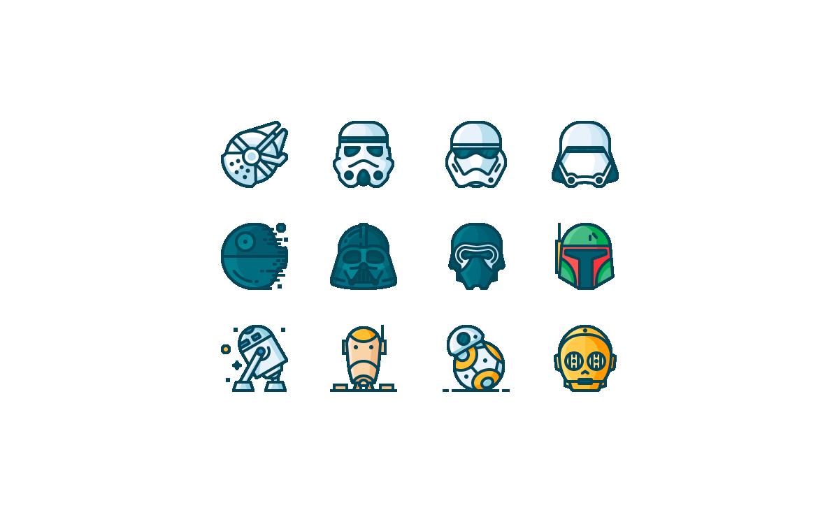 descarga los iconos de star wars para usar en tus dise os